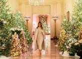 ميلانيا ترامب تحقق رقماً قياسياً في عدد أشجار عيد الميلاد