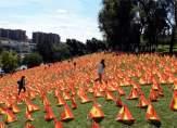 """غرس 53 ألف علم إسباني في متنزه... ما علاقة """"كورونا"""" بالموضوع؟"""