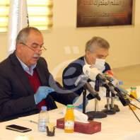 مؤتمر رئيس الاتحاد العمالي العام بالانابة حسن فقيه - محمد عمر