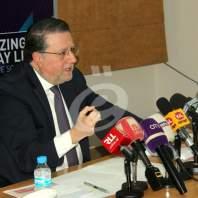مؤتمر صحافي لوزير الاتصالات محمد شقير- محمد عمر