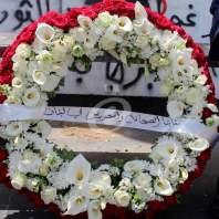 نقابتا الصحافة والمحررين وضعتا اكليلا من الزهر على تمثال الشهداء لمناسبة عيد شهداء الصحافة - محمد عمر