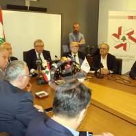 مؤتمر صحافي لرئيس جمعية الصناعيين فادي الجميل - محمد عمر