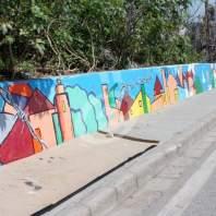 نشاط فني تعبيري على جدار مرفأ بيروت - محمد عمر