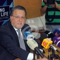مؤتمر صحافي لوزير الاتصالات محمد شقير - محمد عمر