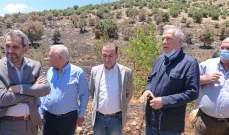 وزير الزراعة وخير تفقدا أضرار حريق الهرمل