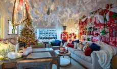 بالصور: فندقفي مانهاتن يحوّل أحد أجنحته إلى غرفة تجسّد تفاصيل عيد الميلاد