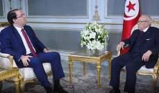 الرئيس التونسي يبحث مع الشاهد المؤشرات الاقتصادية بالبلاد