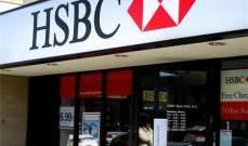 """أرباح بنك """"اش اس بي سي"""" تتجاوز التوقعات لتقفز 79% في الربع الأول"""