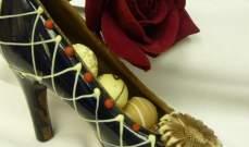 بمناسبة عيد الحب.. أحذية من الشوكولا