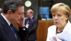 """ميركل: قرارات """"المركزي الأوروبي"""" تثبت أن أزمة منطقة اليورو لم تنته بعد"""