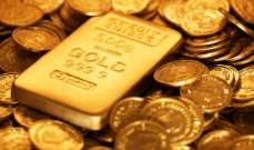 أسعار الذهب ترتفع بنسبة 0.63% الى 1.231 دولارللأونصة