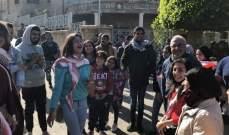 تجمع لعدد من الشبان أمام مصرف لبنان بصور تنديدا بالسياسة المالية المتبعة
