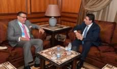 كنعان يلتقي السفير المصري ويبحث معه الأوضاع المالية والاقتصادية