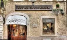 """بالصور: مقهى""""أنتيكو غريكو""""الإيطالي التاريخي مهدد بالإقفال"""