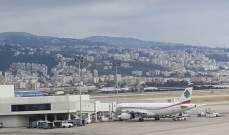"""تراجع في حركة الركاب والطائرات والشحن عبر """"مطار بيروت الدولي"""" في 2019"""