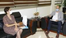 """حسن يبحث وممثلة """"اليونيسيف"""" في دعم طلب لبنان للإنضمام إلى """"GAVI"""""""