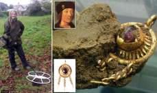 بالصور: سيدة بريطانية تعثر بالصدفة على جوهرة ملكية!