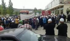 إعتصام لمزارعي الزيتون في حاصبيا إحتجاجاً على كساد موسمهم