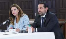 الحريري:الوزيرات في الحكومة كسرن الصورة النمطية للمرأة في السياسية وغيّرن صورة وزاراتهن
