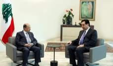 إنتهاء الإجتماع بين الرئيس عون ودياب.. والبحث خصص للتنسيق بالخطة الإقتصادية