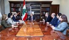 الرئيس عون يعرض الحسابات المالية مع وفد من مجلس ديوان المحاسبة
