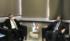 وزني يعرض مع رامبلينغ الأوضاع الراهنة وسبل تعزيز التعاون بين البلدين