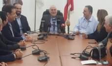 جبق يسعى الى تسويق الدواء اللبناني في السوق العراقي