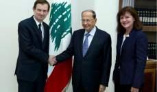 التقرير اليومي 14/1/2019: الرئيس عون أبلغ هيل أن لبنان بصدد إجراء إصلاحات مالية واقتصادية