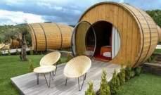 بالصور: فندق في البرتغال من البراميل الخشبية