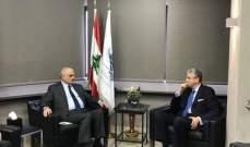 التقرير اليومي 29/3/2019: بلحاج بعد لقائه خليل على رأس وفد: الوضع الاقتصادي في لبنان دقيق