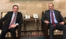 """حواط بحث مع حسن في تفعيل التعاون بين الوزارتين بموضوع """"كورونا"""""""