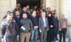 اعتصام لموظفي بلدية بعلبك احتجاجا على زيادة ساعات العمل