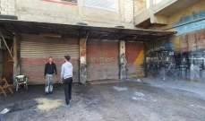 أصحاب مهن ومؤسسات في المدينة الصناعية في صيدا يغلقون محالهم احتجاجا على الأوضاع
