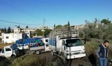 إعتصام أمام شركة الغاز في قرية القصيبة بمنطقة النبطية