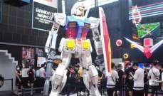 """الروبوت """"Gundam"""" العملاق يخطو أولى خطواته في اليابان"""