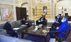 """دياب يبحث مع  كومار المساعدات التي يقدمها """"البنك الدولي"""" للبنان"""