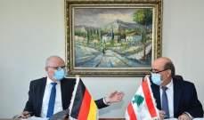 اتفاقيتان للتعاون بين لبنان وألمانيا بقيمة 100 مليون يورو