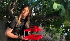 """""""I O Tree"""".. إختراع لنسرين التّركي يهدف لحماية المزروعات وتحسين جودتها"""