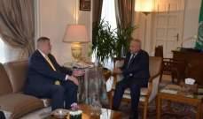 أبو الغيط أكد لكوبيش دعم الجامعة العربية للبنان: لتقوم الحكومة بالإصلاحات اللّازمة