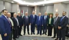 خليل بحث مسائل تتعلق بقانون مكافحة تبييض الأموال مع وفد من نقابة المحامين في طرابلس
