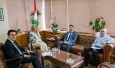 شدياق بحثت في موضوع التنظيم الإداري والمالي للمنطقة الاقتصادية في طرابلس