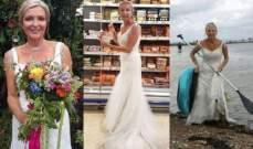 ترتدي فستان زفافها يومياً لإنجاز المهام المنزلية!
