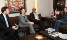 فيولت الصفدي إجتمعت مع وفد من البنك الدولي
