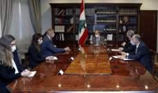 الرئيس عون عرض مداولات الإجتماع الأول لمفاوضات ترسيم الحدود البحرية
