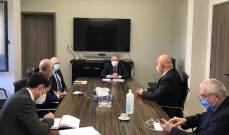 وزني يناقش مع وفد من هيئة تنسيق القطاع العام المواد المعترض عليها في مشروع موازنة 2021