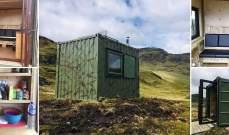 """Airbnb"" تتيح استئجارحاوية شحن محولة في المرتفعات الاسكتلندية"