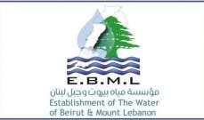 """""""مؤسسة مياه بيروت وجبل لبنان"""" تمدد مهلة تسديد بدلات 2020 من دون ترتيب أي غرامة تأخير لغاية نهاية العام"""