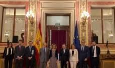 باسيل من إسبانيا: ندعوكمللمشاركة في النشاطات الهادفة لإستخراج النفط والغاز من بحر لبنان