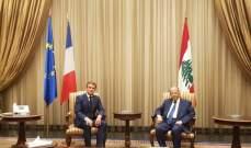 ماكرون شدد على دعم فرنسا للبنان في تلبية حاجاته الملحة