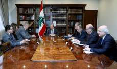 الرئيس عون عرض مع المنسق الخاص للأمم المتحدة التحضيرات لمؤتمر مجموعة الدعم الدولية